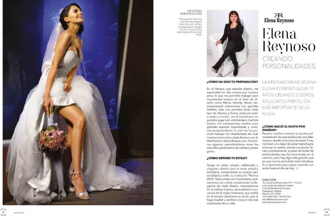 Elena Reynoso Revista Bodas & Co.